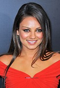Lip Gloss Photo Posters - Mila Kunis At Arrivals For Friends With Poster by Everett