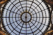Roof Posters - Milan Galleria Vittorio Emanuele II Poster by Joana Kruse