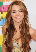 24th Metal Prints - Miley Cyrus At Arrivals Metal Print by Everett