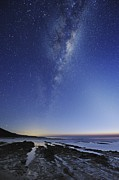 Moonlit Night Photo Metal Prints - Milky Way Over Cape Otway, Australia Metal Print by Alex Cherney, Terrastro.com