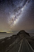 Moonlit Art - Milky Way Over Cape Schanck, Australia by Alex Cherney, Terrastro.com