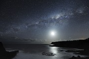 Moonlit Night Photo Metal Prints - Milky Way Over Mornington Peninsula Metal Print by Alex Cherney, Terrastro.com