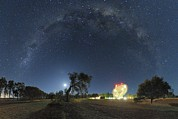Moonlit Night Photo Metal Prints - Milky Way Over Parkes Observatory Metal Print by Alex Cherney, Terrastro.com