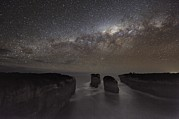 Moonlit Night Photo Metal Prints - Milky Way Over Shipwreck Coast Metal Print by Alex Cherney, Terrastro.com