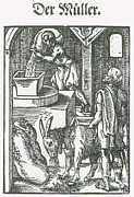 Mill Stone Framed Prints - Millers, Medieval Tradesmen Framed Print by Science Source