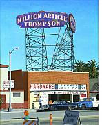 Sign Paintings - Million Article Thompson by Michael Ward