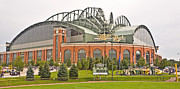 Miller Park Framed Prints - Milwaukees Miller Park Framed Print by Steve Sturgill