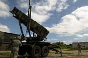 Surface-to-air Posters - Mim-104 Patriot Missile Launcher Poster by Stocktrek Images