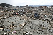 Japan Town Photos - Minami Sanriku After The 2011 Earthquake by Ria Novosti