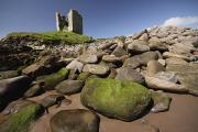 Minard Prints - Minard Castle And Rocky Beach Minard Print by Trish Punch