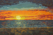 Landscapes Paintings - Mindil Beach Sunset by Alex Mortensen