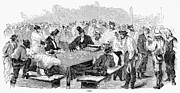Faro Photos - Miners Gambling, 1857 by Granger