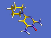 Molecule Art - Minoxidil Hair Loss Drug Molecule by Dr Tim Evans