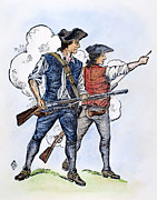 1770s Prints - MINUTEMEN, 1770s Print by Granger