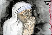 Mother Teresa Framed Prints - Miracle Mother Framed Print by Rooma Mehra
