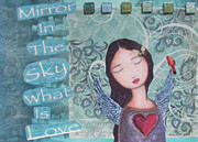 Luna Mixed Media Prints - Mirror In The Sky Print by Christina Fajardo
