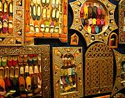 Northern Africa Metal Prints - Mirrors with reflected slippers on the opposite side Metal Print by Ralph Ledergerber