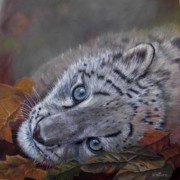 Tiger Pastels - Mirucha in fall by Ceci Watson
