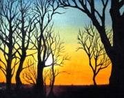 Sillouette Originals - Mist Over Sunset by Diane Daigle