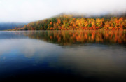 Fog Rising Prints - Misty Morning on the Lake Print by Thomas R Fletcher
