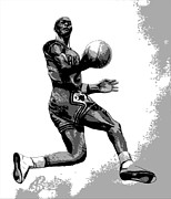 Basketball Digital Art - MJ Poster by Adam Barone