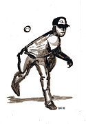Mlb Drawings - MLB The Heater by Seth Weaver
