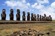 Moai Framed Prints - Moai Statues Framed Print by Bill Bachmann - Printscapes