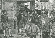 Colonial Man Prints - Mob Confronting Stamp Officer Print by Photo Researchers