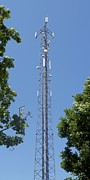 Technological Communication Prints - Mobile Phone Mast Print by Carlos Dominguez