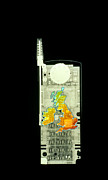 Cellphone Prints - Mobile Phone X-ray Print by D. Roberts