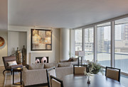 Dining Table Posters - Modern Condo Interior Poster by Andersen Ross