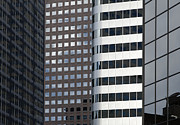 Glass Reflecting Metal Prints - Modern High Rise Office Buildings Metal Print by Roberto Westbrook