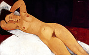 Early Painting Prints - Modigliani Nude 1917 Print by Granger