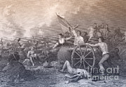 American Revolution Framed Prints - Molly Pitcher At The Battle Of Monmouth Framed Print by Photo Researchers