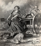 Pitcher Prints - Molly Pitcher At The Battle Print by Photo Researchers