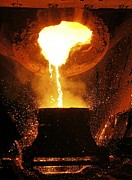 Production Photos - Molten Metal Being Poured From A Vat by Ria Novosti