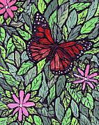 Monarch Butterfly Paintings - Monarch Butterfly by Wayne Potrafka
