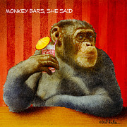 Often Framed Prints - Monkey bars She said... Framed Print by Will Bullas