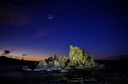 Night-scape Posters - Mono Lake Big Dipper Sky Poster by La Rae  Roberts