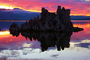 Mono Lake Framed Prints - Mono Lake Sunset Framed Print by Adam Jewell