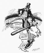 Big Sam Photo Prints - Monroe Doctrine Cartoon Print by Granger