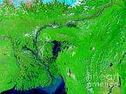 Monsoon Floods Print by NASA / Science Source
