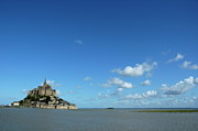 Site Historique Framed Prints - Mont Saint-Michel in France Framed Print by Sami Sarkis