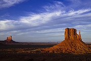 Dramatic Posters - Monument Valley at Dusk Poster by Andrew Soundarajan