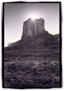 Arizona Photo Framed Prints - Monument Valley Butte Arizona Framed Print by Steve Gadomski
