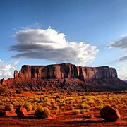 Featured Metal Prints - Monument Valley Metal Print by Luisa Azzolini