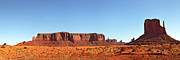 Mountain Valley Framed Prints - Monument Valley pano Framed Print by Jane Rix
