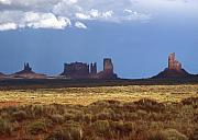 Monsoon Framed Prints - Monument Valley Storm Framed Print by Troy Montemayor