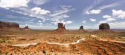 Ryan Kelly Prints - Monument Valley Wide Angle Print by Ryan Kelly