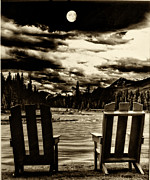 Jasper Prints - Moon Over Jasper Print by Jack Paolini